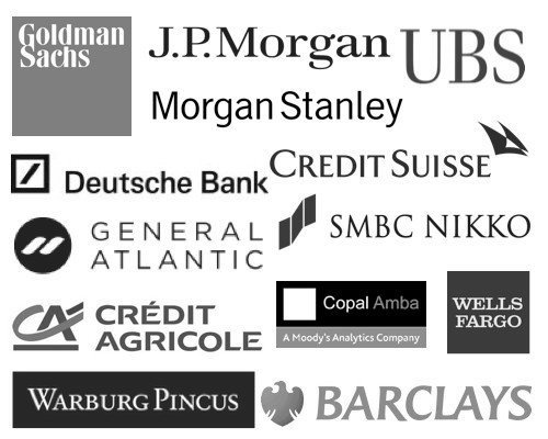 Kentley Insights Clients - Banks, Investment Banks, Private Equity, Morgan Stanley, Goldman Sachs