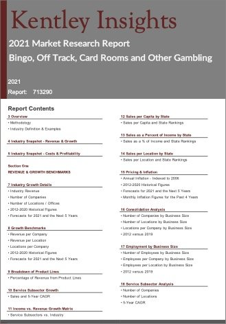Bingo Off Track Card Rooms Other Gambling Report