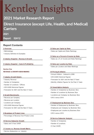 Direct Insurance except Life Health Medical Carriers Report