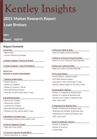 Loan Brokers Report