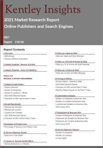 Online Publishers Search Engines Report