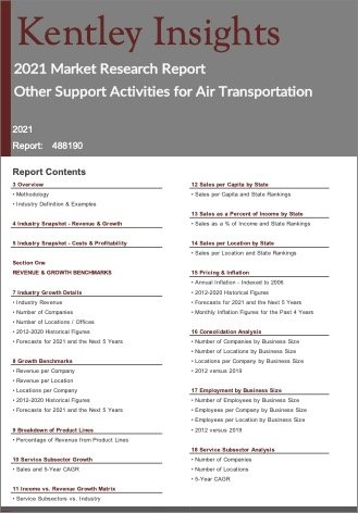 Other Support Activities for Air Transportation Report
