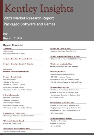 Packaged Software Games Report